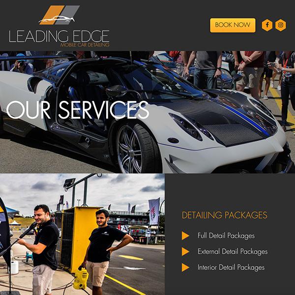 Leading Edge Detailing Website